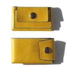 """画像2: """"JUTTA NEUMANN"""" Leather Wallet """"Scotts Purse""""  -MINIMAL SIZE- color : YELLOW / SMOKY GREEN (2)"""