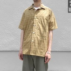 """画像8: Riprap """"S/S Semi Open Collar Shirt"""" -Plaid Broad-  color BEIGE/MINT size MEDIUM, LARGE, X-LARGE (8)"""