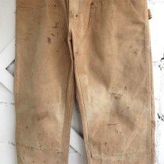 """画像5: 1970's """"Carhartt"""" Duck Canvas Double Knee Painter Pants FADE BRWON size W34INCH (5)"""