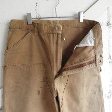 """画像3: 1970's """"Carhartt"""" Duck Canvas Double Knee Painter Pants FADE BRWON size W34INCH (3)"""
