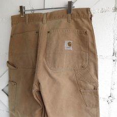"""画像4: 1970's """"Carhartt"""" Duck Canvas Double Knee Painter Pants FADE BRWON size W34INCH (4)"""