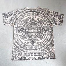 """画像3: YAZBEK """"MEXICO"""" All Over Print T-Shirt NATULAL size M-L (3)"""