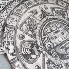 """画像6: YAZBEK """"MEXICO"""" All Over Print T-Shirt NATULAL size M-L (6)"""