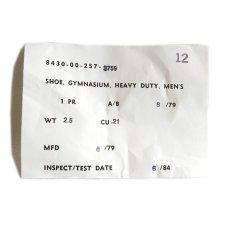 """画像7: 1970's """"U.S. ARMY"""" Canvas Training Shoes -Dead Stock- NATULAL size US 12 (7)"""