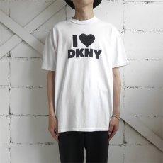 "画像2: 1990's ""DKNY JEANS"" Print T-Shirt WHITE/BLACK size L (2)"