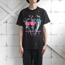 "画像2: 1990's ""NASA"" Foam Print T-Shirt BLACK/MULTI size S-M (2)"