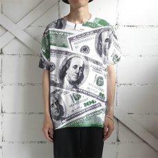 """画像2: Hanes """"100 DOLLARS"""" All Over Print T-Shirt WHITE size L (2)"""