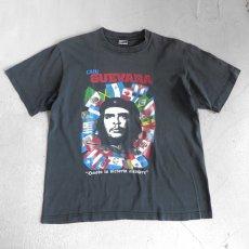 """画像1: EVOLUTION """"CHE GUEVARA"""" Print T-Shirt BLACK size M-L (1)"""