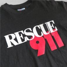 """画像3: 1990's """"RESCUE 911"""" Print T-Shirt BLACK size M (3)"""
