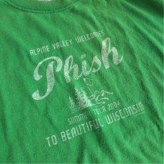 """画像3: 2000's """"PHISH"""" Tour Print T-Shirt GREEN size L (3)"""