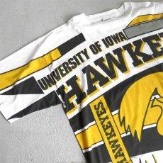 """画像6: 1990's """"IOWA HAWKEYES"""" All Over Print T-Shirt WHITE size XXL (6)"""