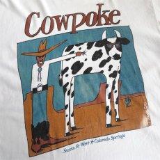"""画像6: 1990's """"Cowpoke"""" Print T-Shirt WHITE size M-L (6)"""