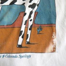 """画像7: 1990's """"Cowpoke"""" Print T-Shirt WHITE size M-L (7)"""