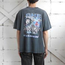 """画像3: EVOLUTION """"CHE GUEVARA"""" Print T-Shirt BLACK size M-L (3)"""