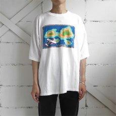 """画像2: ITALIA """"Margarita"""" Print T-Shirt WHITE size M-L (2)"""