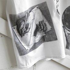 "画像6: NEW ""M.C. ESCHER"" Multi Print T-Shirts color : WHITE, BLACK size M, L, XL (6)"
