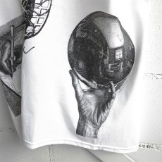 "画像5: NEW ""M.C. ESCHER"" Multi Print T-Shirts color : WHITE, BLACK size M, L, XL (5)"