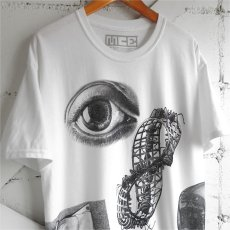 "画像4: NEW ""M.C. ESCHER"" Multi Print T-Shirts color : WHITE, BLACK size M, L, XL (4)"