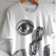 "画像4: NEW ""M.C. ESCHER"" Multi Print T-Shirts color : WHITE, BLACK size M, L, XL (4)"