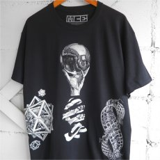 "画像8: NEW ""M.C. ESCHER"" Multi Print T-Shirts color : WHITE, BLACK size M, L, XL (8)"