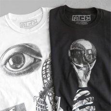 "画像1: NEW ""M.C. ESCHER"" Multi Print T-Shirts color : WHITE, BLACK size M, L, XL (1)"