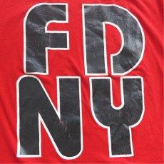 """画像3: 1990's """"FDNY"""" Print T-Shirt RED size L (3)"""