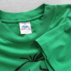 """画像3: 1990's """"YEAH-RIGHT"""" Print T-Shirt GREEN size M-L (3)"""