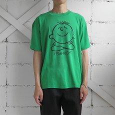 """画像4: 1990's """"YEAH-RIGHT"""" Print T-Shirt GREEN size M-L (4)"""