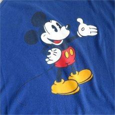 """画像2: 1980's DISNEY """"MICKEY"""" Print Tank Top BLUE size M (2)"""