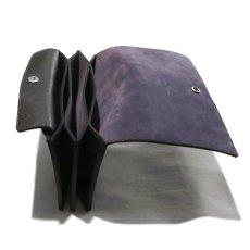"""画像7: """"JUTTA NEUMANN"""" Leather Wallet """"Waiter's Wallet"""" -長財布- color : Black / Purple (7)"""