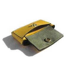 """画像4: """"JUTTA NEUMANN"""" Leather Wallet """"Scotts Purse""""  -MINIMAL SIZE- color : YELLOW / SMOKY GREEN (4)"""