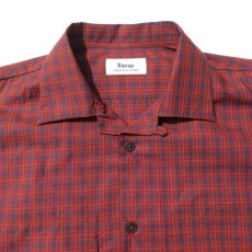 """画像3: Riprap """"S/S Semi Open Collar Shirt"""" -Plaid Broad-  color BROWN/RED size MEDIUM, LARGE, X-LARGE (3)"""