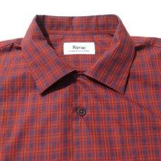 """画像4: Riprap """"S/S Semi Open Collar Shirt"""" -Plaid Broad-  color BROWN/RED size MEDIUM, LARGE, X-LARGE (4)"""
