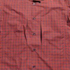"""画像5: Riprap """"S/S Semi Open Collar Shirt"""" -Plaid Broad-  color BROWN/RED size MEDIUM, LARGE, X-LARGE (5)"""