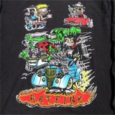 """画像4: NEW """"RAT FINK"""" Multi Print L/S T-Shirt BLACK size M, L, XL (4)"""