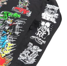"""画像5: NEW """"RAT FINK"""" Multi Print L/S T-Shirt BLACK size M, L, XL (5)"""