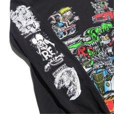 """画像6: NEW """"RAT FINK"""" Multi Print L/S T-Shirt BLACK size M, L, XL (6)"""