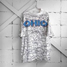 "画像1: 1990's U.S.A. ""OHIO"" Print T-Shirt WHITE size XL-XXL (1)"