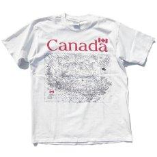 """画像1: GILDAN """"CANADA"""" Map Print T-Shirt WHITE size XL (1)"""