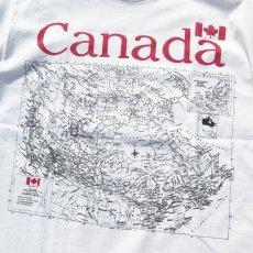 """画像4: GILDAN """"CANADA"""" Map Print T-Shirt WHITE size XL (4)"""