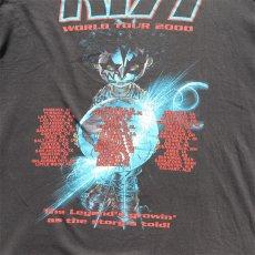 """画像7: 2000's """"KISS"""" World Tour Print T-Shirt BLACK size XL (7)"""