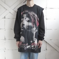 "画像2: U.S.A. ""2PAC"" Cut off Print T-Shirt BLACK size 2XL (2)"
