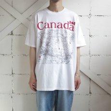 """画像2: GILDAN """"CANADA"""" Map Print T-Shirt WHITE size XL (2)"""