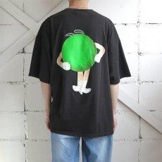 "画像4: U.S.A. ""M&M'S"" Character Print T-Shirt BLACK size XL-XXL (4)"