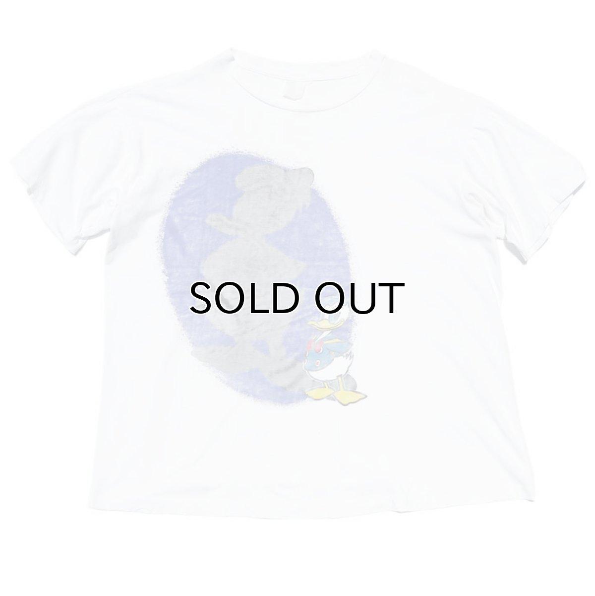 """画像1: 1980-90's """"DONALD DUCK"""" Print T-Shirt WHITE size L (1)"""