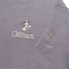 "画像3: 1990's ""OCEANUS"" One Point Logo T-Shirt GREY size M-L (3)"