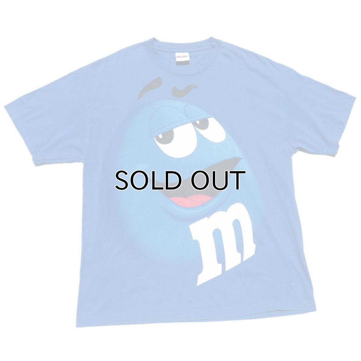 "画像1: ""M&M'S"" Character Print T-Shirt BLUE size XL (1)"