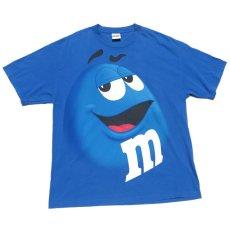 """画像1: """"M&M'S"""" Character Print T-Shirt BLUE size XL (1)"""