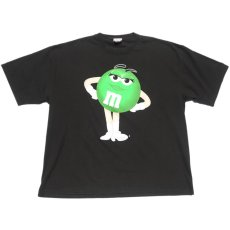 "画像1: U.S.A. ""M&M'S"" Character Print T-Shirt BLACK size XL-XXL (1)"