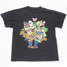 """画像1: """"SUPER MARIO"""" Character Print T-Shirt BLACK size L (1)"""